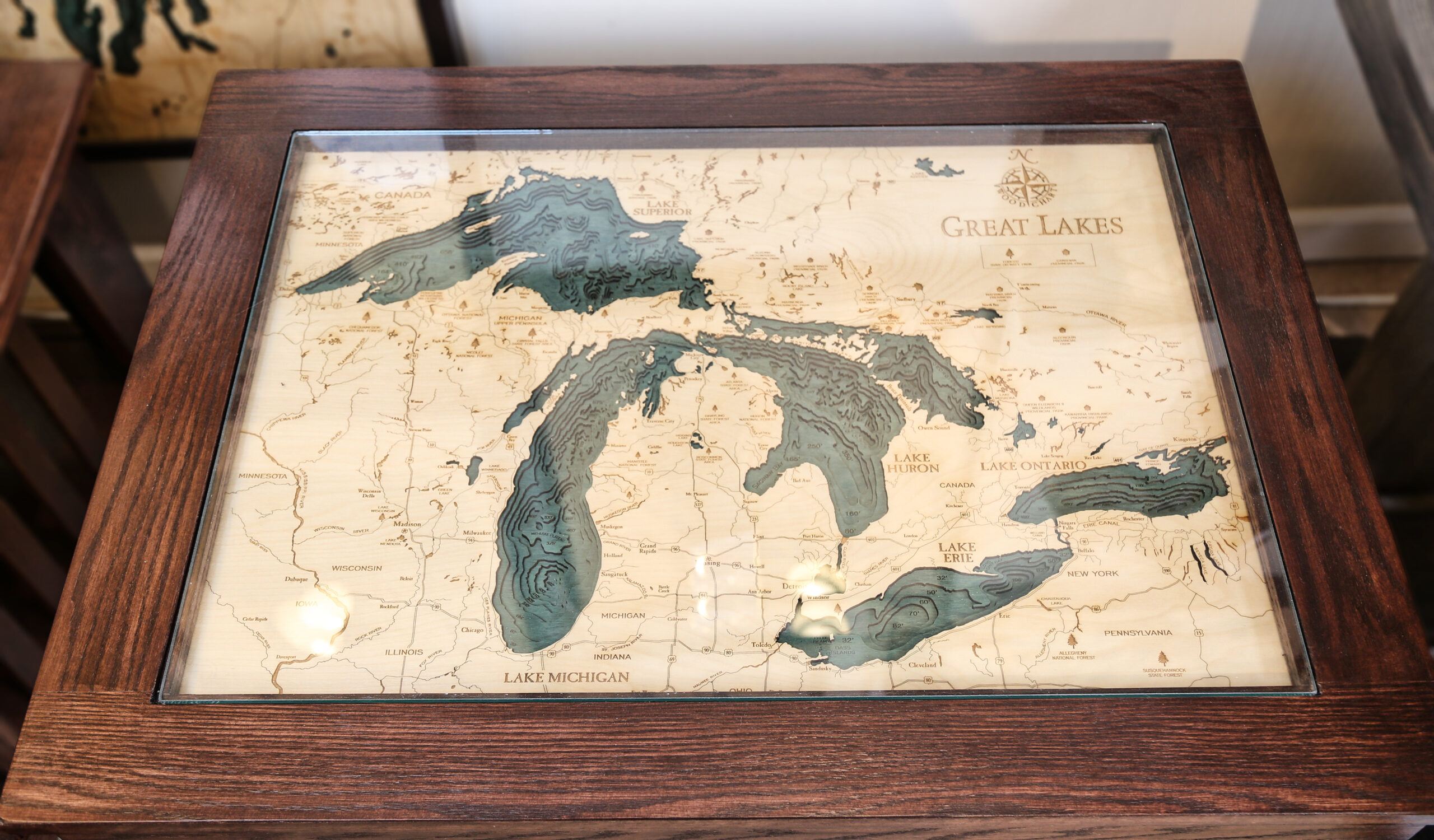 Michigan Map Table